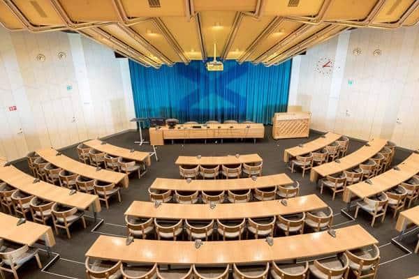 Konferencelokale på metalskolen med plads til 300 mennesker